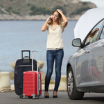 woman loading her car up for vacation